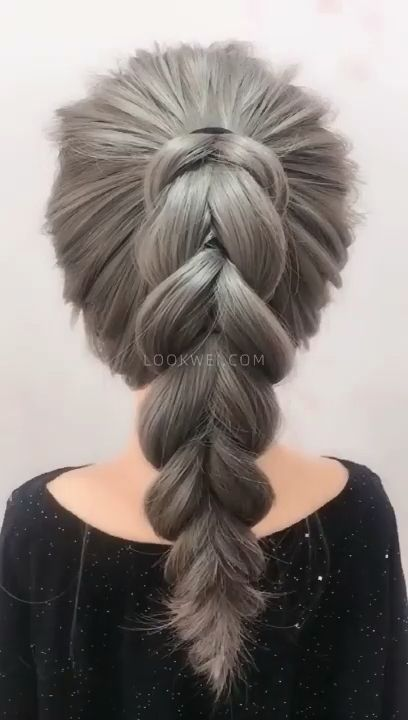 Ponytail braid hairstyle
