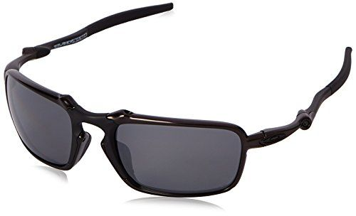884b338a6b1f8 Oakley Mens Badman OO602001 Polarized Iridium Rectangular Sunglasses Dark  Carbon 60 mm    Click for