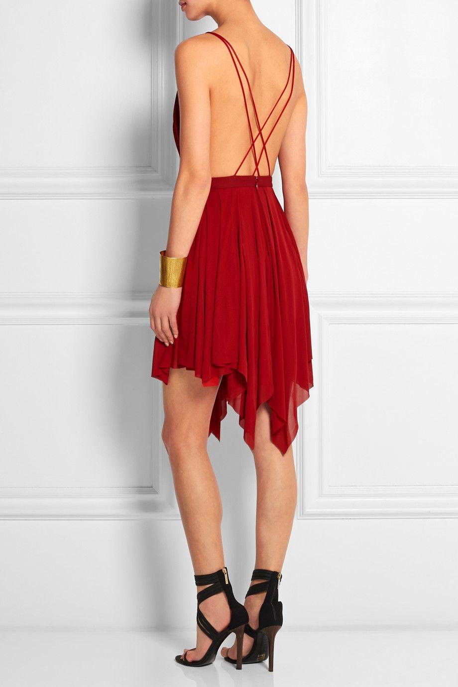 Balmain Draped Jersey Crepe Mini Dress Mini Dress Dresses Backless Dress