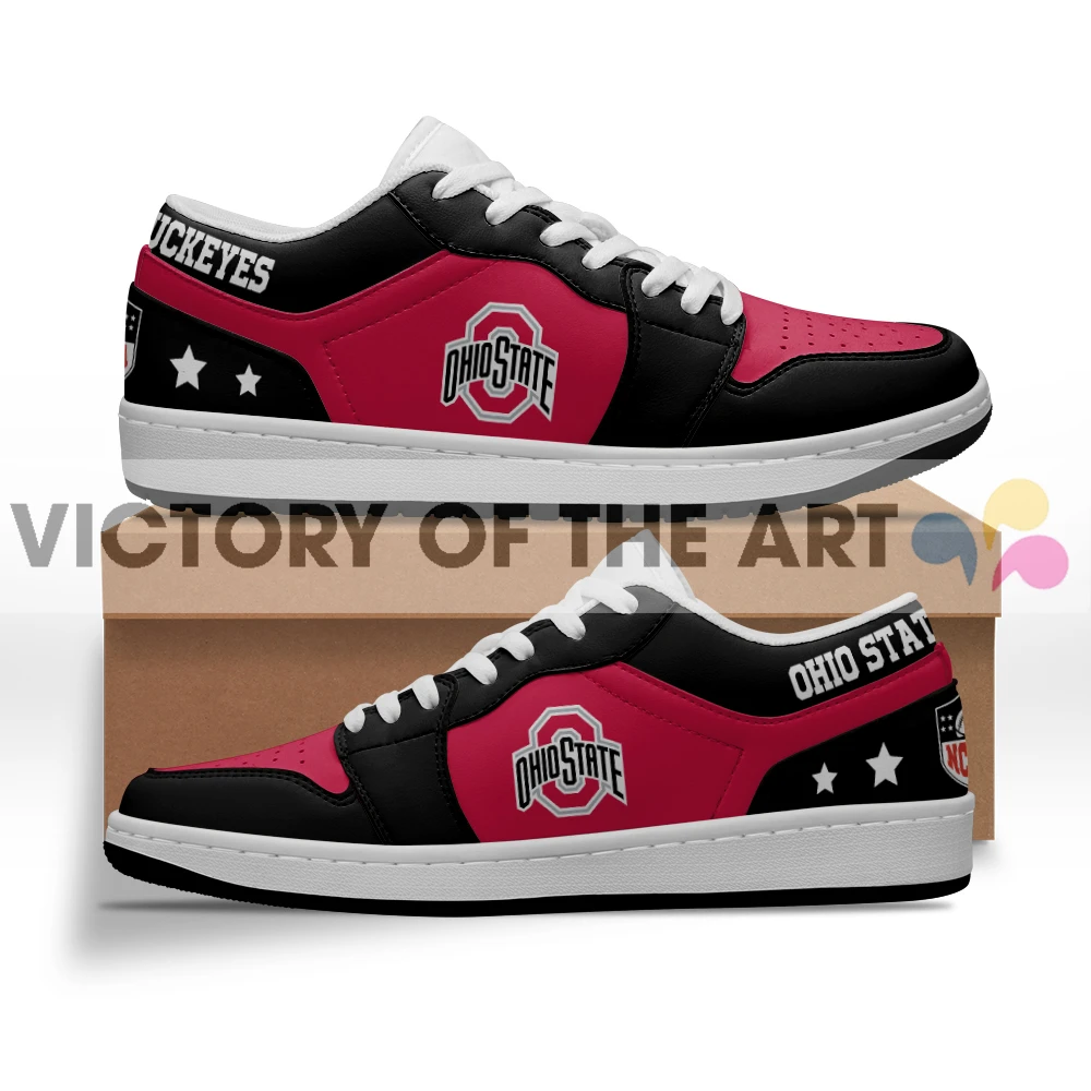 Gorgeous Simple Logo Ohio State Buckeyes Low Jordan Shoes