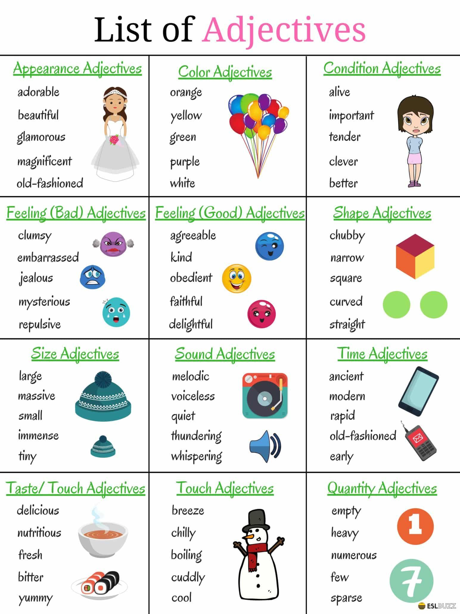 List Of Adjectives Learn Popular Adjectives In English Fluent Land English Adjectives English Vocabulary Adjectives [ 2059 x 1544 Pixel ]