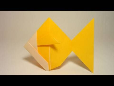 A Very Simple Origami Goldfish Well Use Scissors In This Model If Is Problem For You Just Dont Watch Video