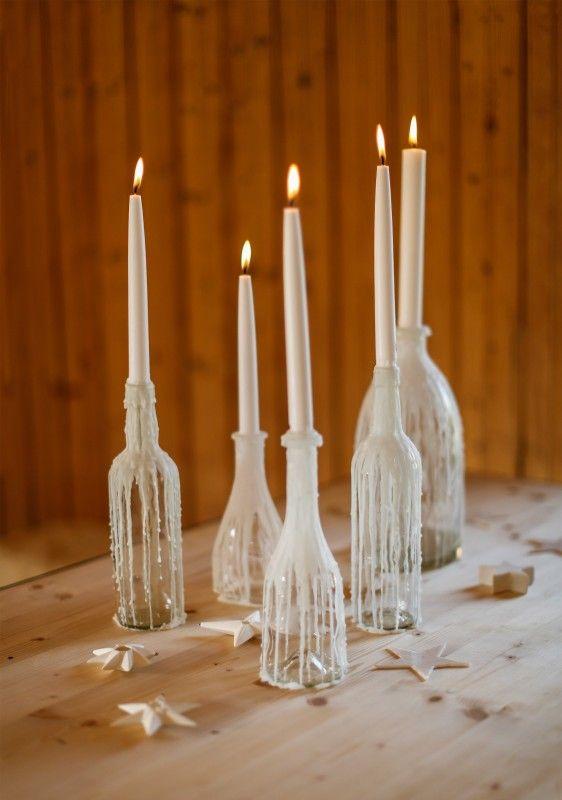 Selber Tropfkerzen Herstellen Kerzen Verzieren Bastelideen