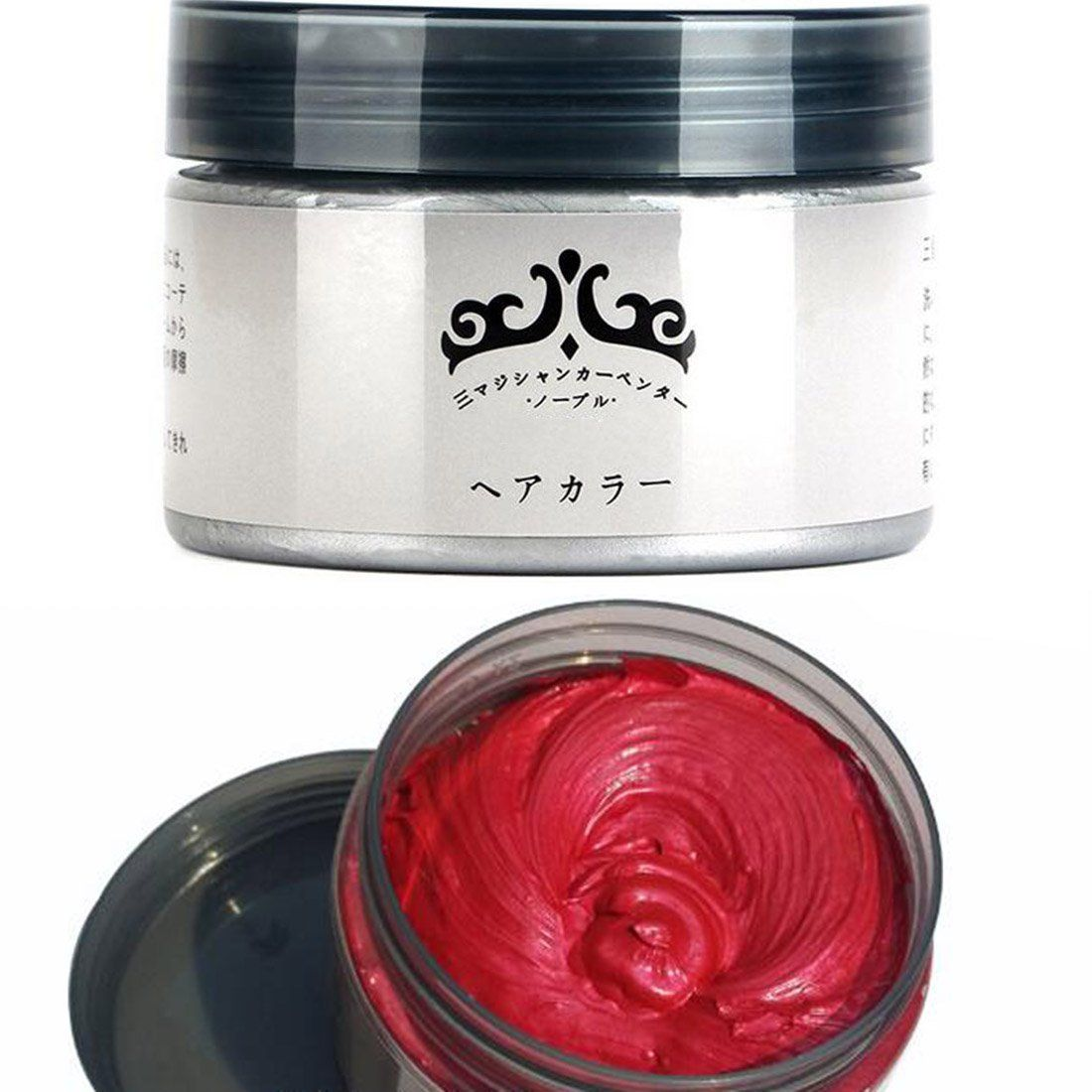 Hair Color Wax Dye One-Time Molding Paste Dye Wax Hair Tool Fashion Christmas Diy Gift Red >>> This is an Amazon Affiliate link. Visit the image link more details.
