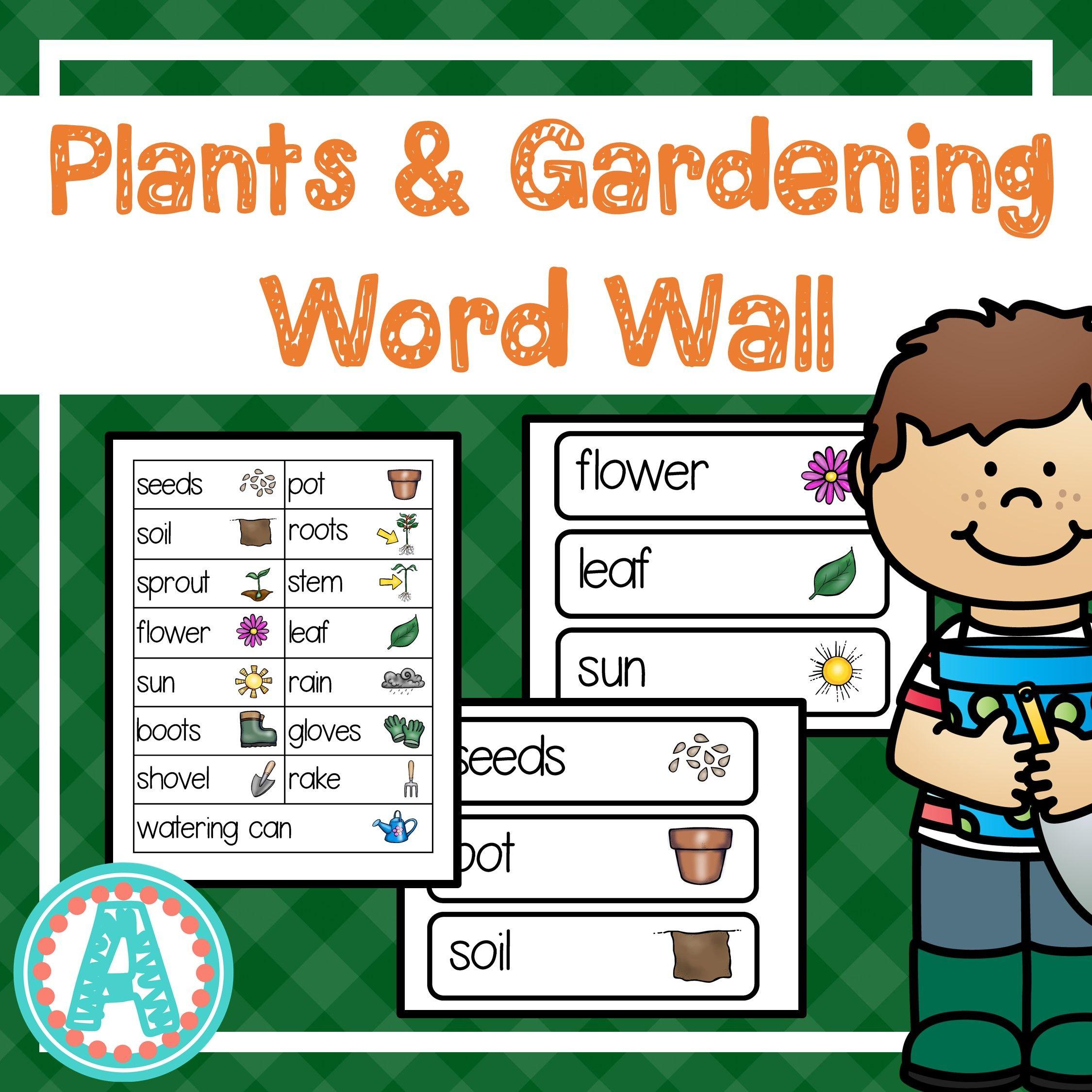 Plants Gardening Word Cards Word Cards Writing Center Preschool Kindergarten Themes [ 2250 x 2250 Pixel ]