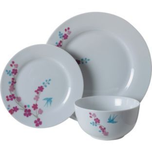 Buy Living 12 Piece Porcelain Blossom Dinner Set at Argos.co.uk - Your Online Shop for Crockery.