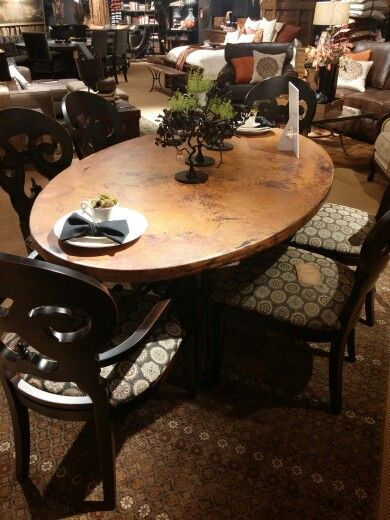 Arhaus Furniture Copper Table. So Beautiful! Made From Recycled Copper!