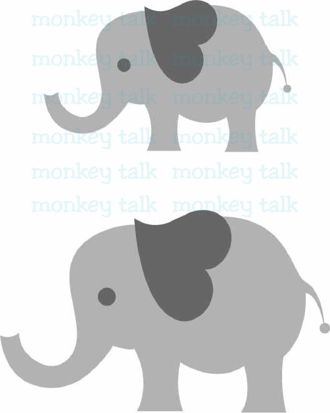 Elephant Baby Instant Download Includes svg, eps, pdf and jpg File ...