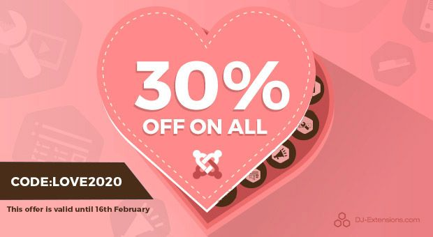 SALE! Happy Valentine's Day get 30% OFF for Everything