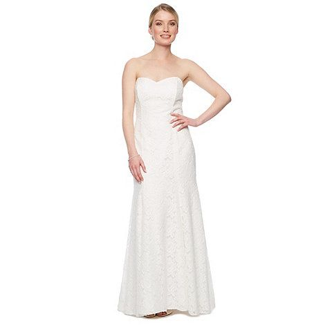 Ivory Strapless Lace Bridal Dress At Debenhams Com Bridal Dresses Lace Bridal Dresses Dresses