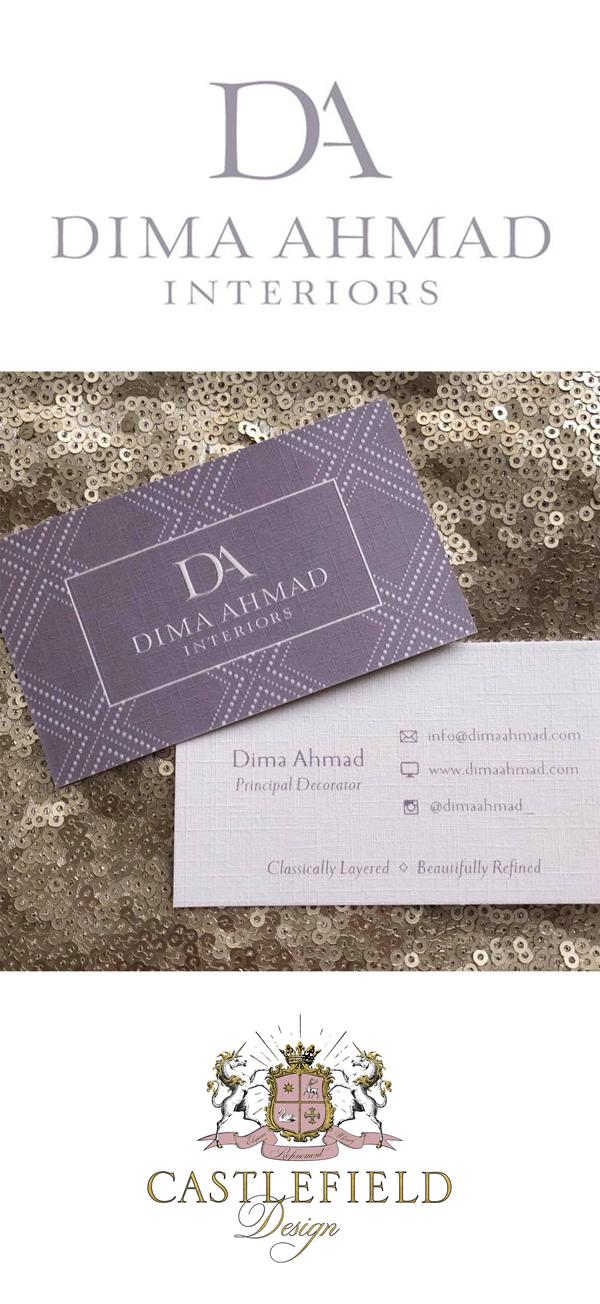 Castlefield Design - Dima Ahmad Interiors logo design and embossed ...