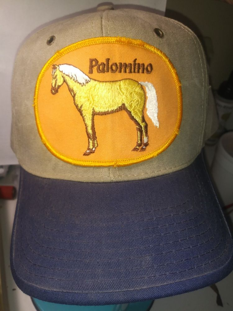 381a10f5ee7d5 1985 Sutton Sportswear Rare Collectible Palomino Horse Hat Brass Clasp   fashion  clothing  shoes