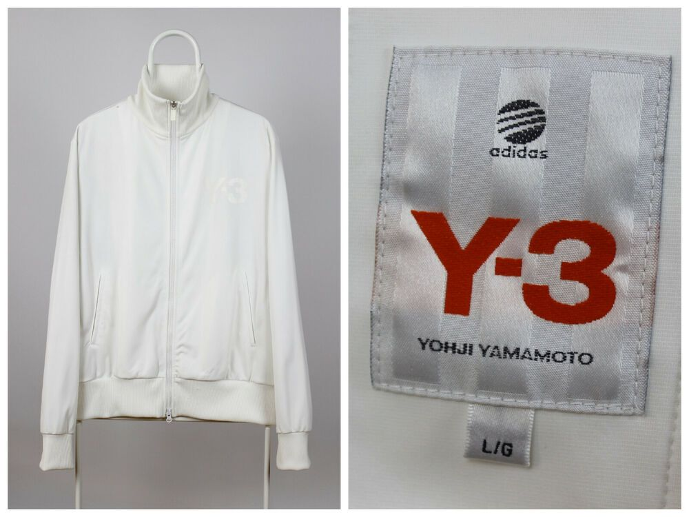 Mens Adidas Y 3 Yohji Yamamoto Track Top Jacket White Size L Adidas Tracktop Adidas Men Jacket Tops Mens Raincoat