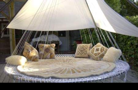 Round Hammock Outdoor Beds Outdoor Hanging Bed Outdoor Bedroom