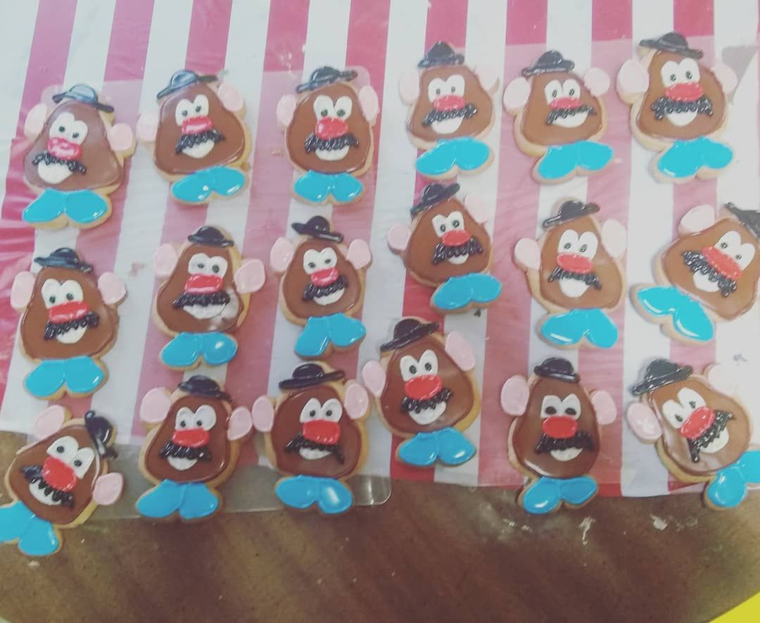 Mr potato Head cookies