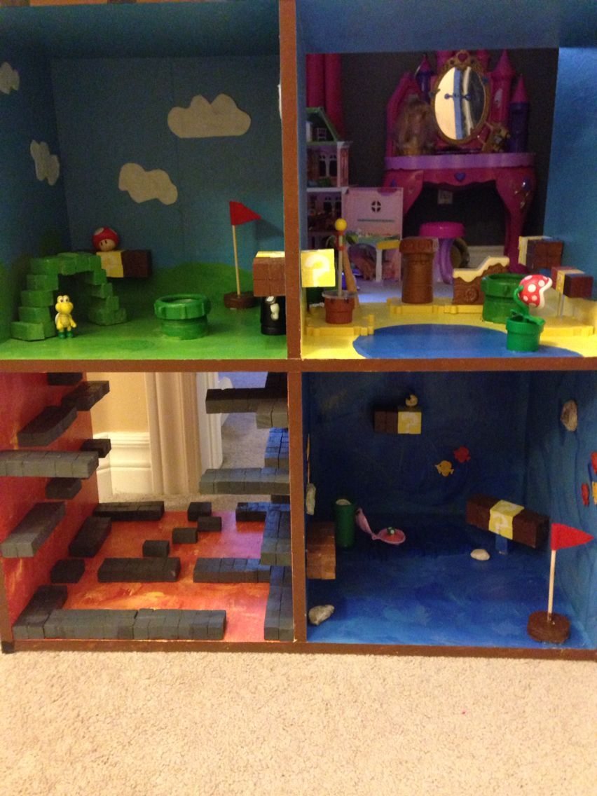 super mario playhouse dyi for the home pinterest super mario kinderzimmer and kinder zimmer. Black Bedroom Furniture Sets. Home Design Ideas