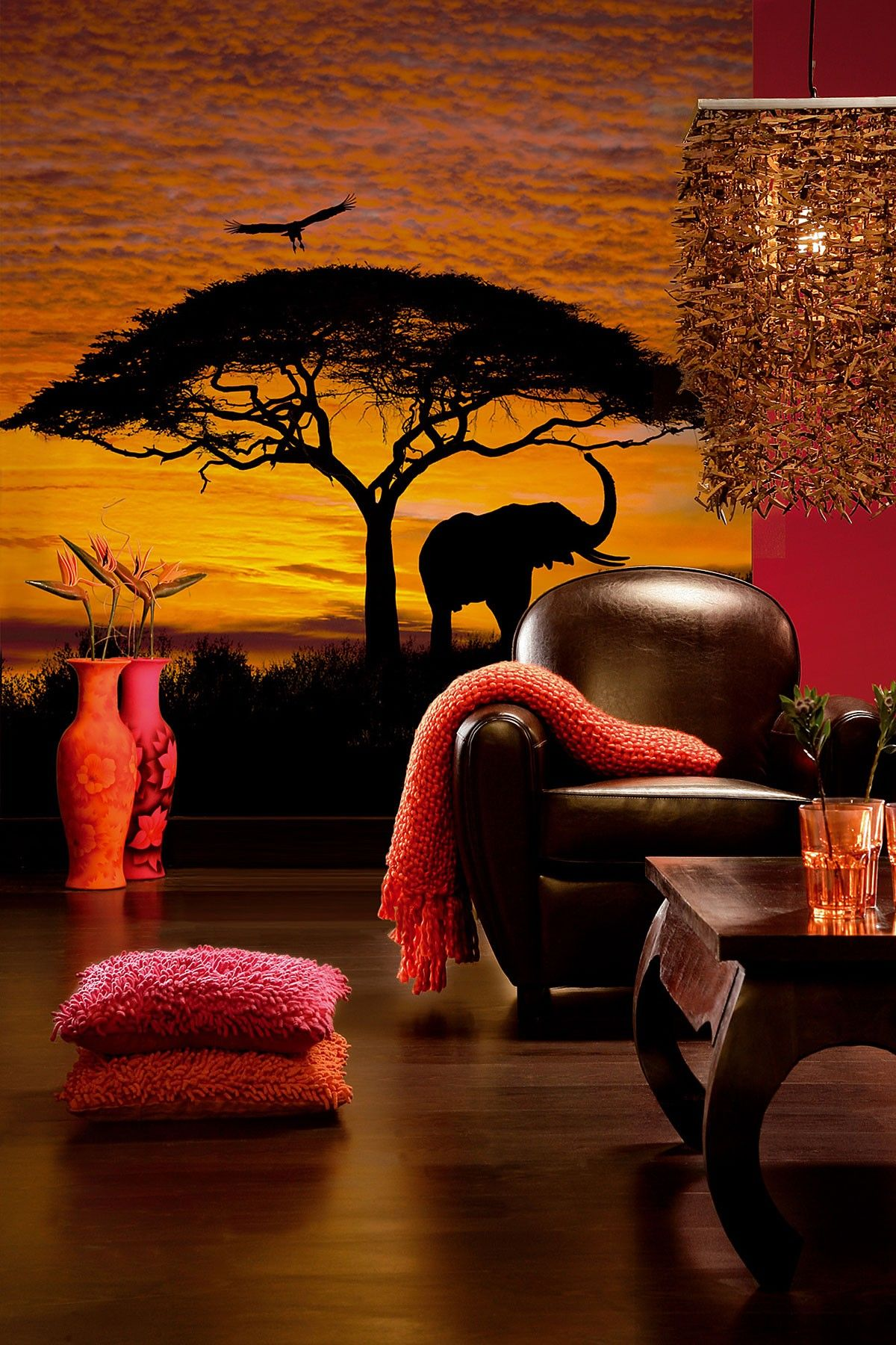 Brewster Home Fashions | African Sunset Wall Mural