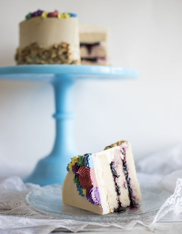 Passion Fruit Blueberry Cake Passion fruit cake Fruit cakes and