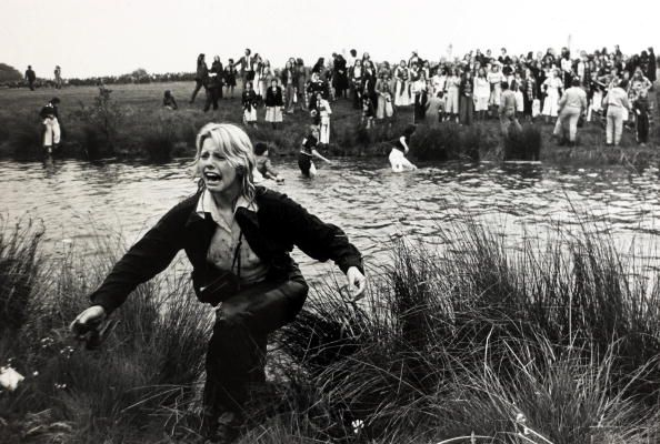 1975 Radio One 'Big Day Out' at Mallory Park An hysterical Bay City Rollers fan after wading through the lake in an attempt to meet her heroes