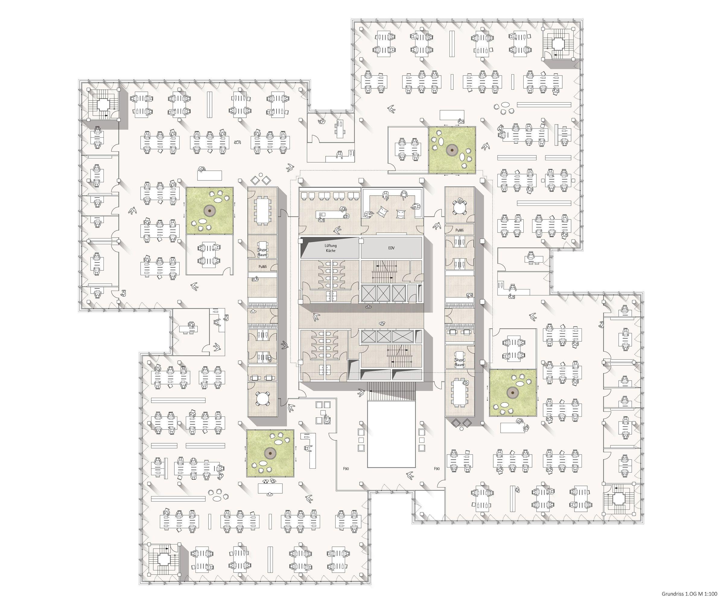 2. Preis Grundriss 1. Obergeschoss, © Andreas Heupel