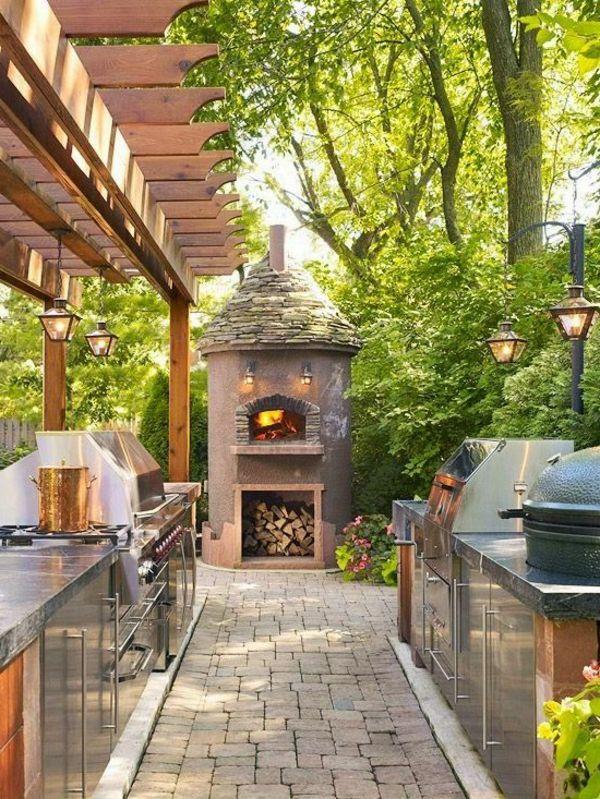 Inspirierende Küche Inennhof Gestaltungsideen | Gärten & Terrasse ... Gestaltungsideen Essbereich Im Freien