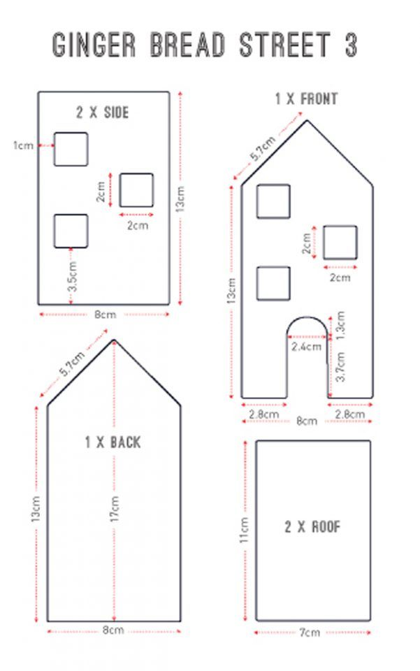 Gingerbread house templates #gingerbreadhousetemplate