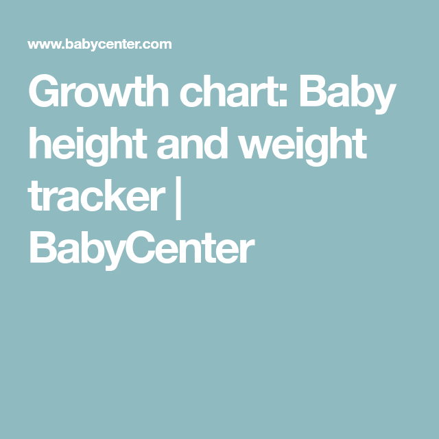 Babycenter Growth Charts Ibovnathandedecker
