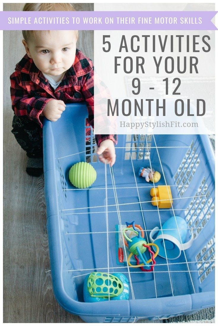 Simple activities for your 9 - 12 month old baby. Keep your little entertained while they work on their fine motor skills.
