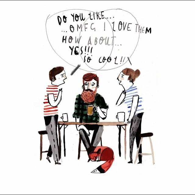 Ever go to one of those parties? #dickvincent #illustration