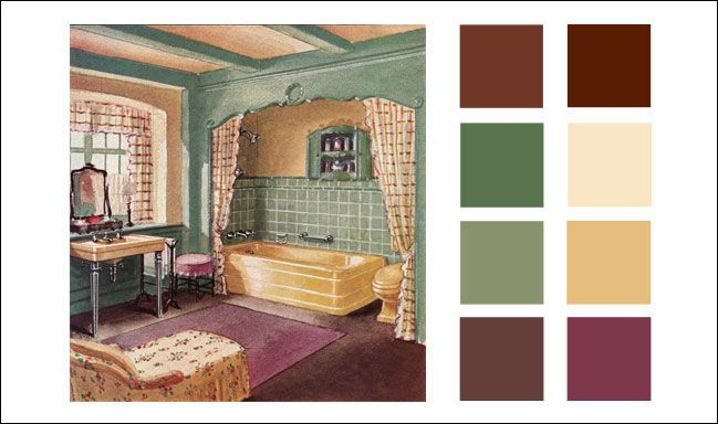 Colors For Antique Bathroom Bathroom American Residential - Bathroom-color-schemes