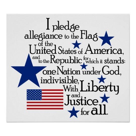 Pledge of Allegiance Poster | Zazzle.com