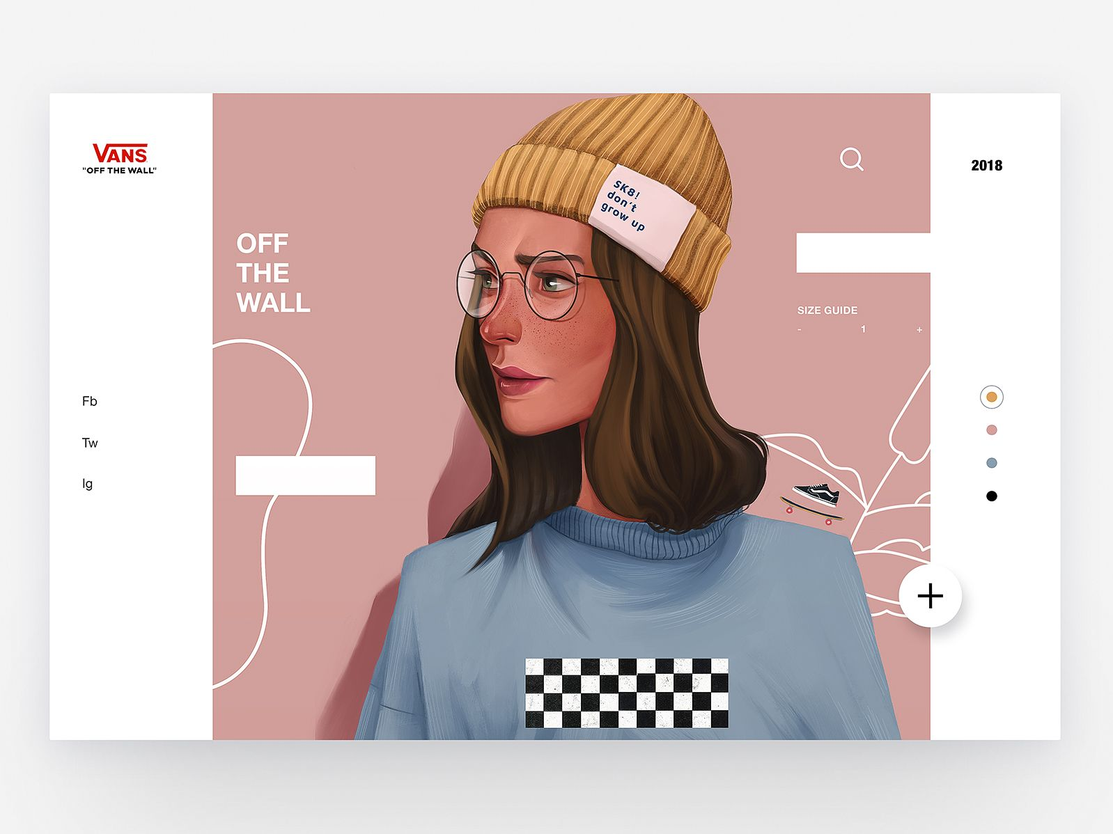7151aebeb0 Vans - Concept Illustration Design II character app concept skate vans web  interface animation illustration ux design ui