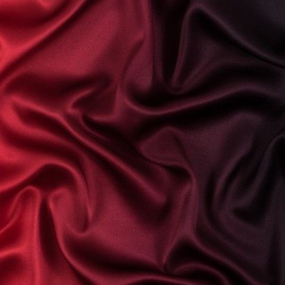 Red and Black Ombre Silk Charmeuse Fabric by the Yard | Mood ...
