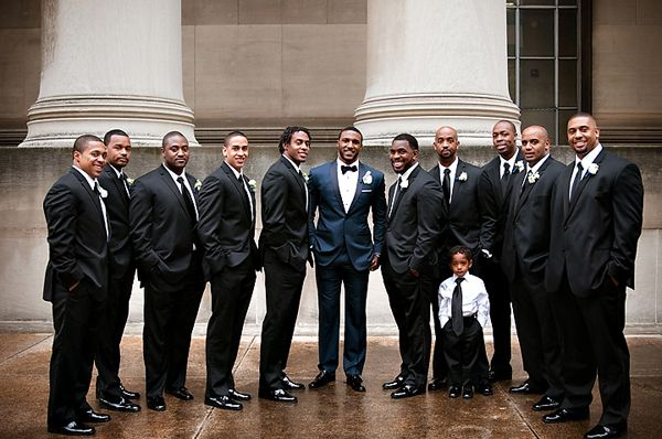 9994a949a Groom in navy and bowtie, groomsmen in black and tie | For the groom ...