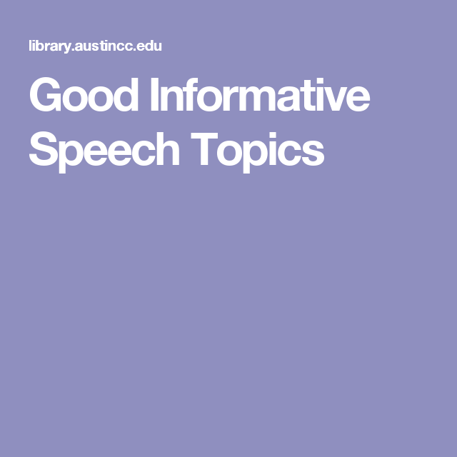 event speech topics