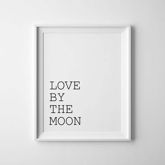 Live By The Sun Love By The Moon Set Of 2 Printable Black