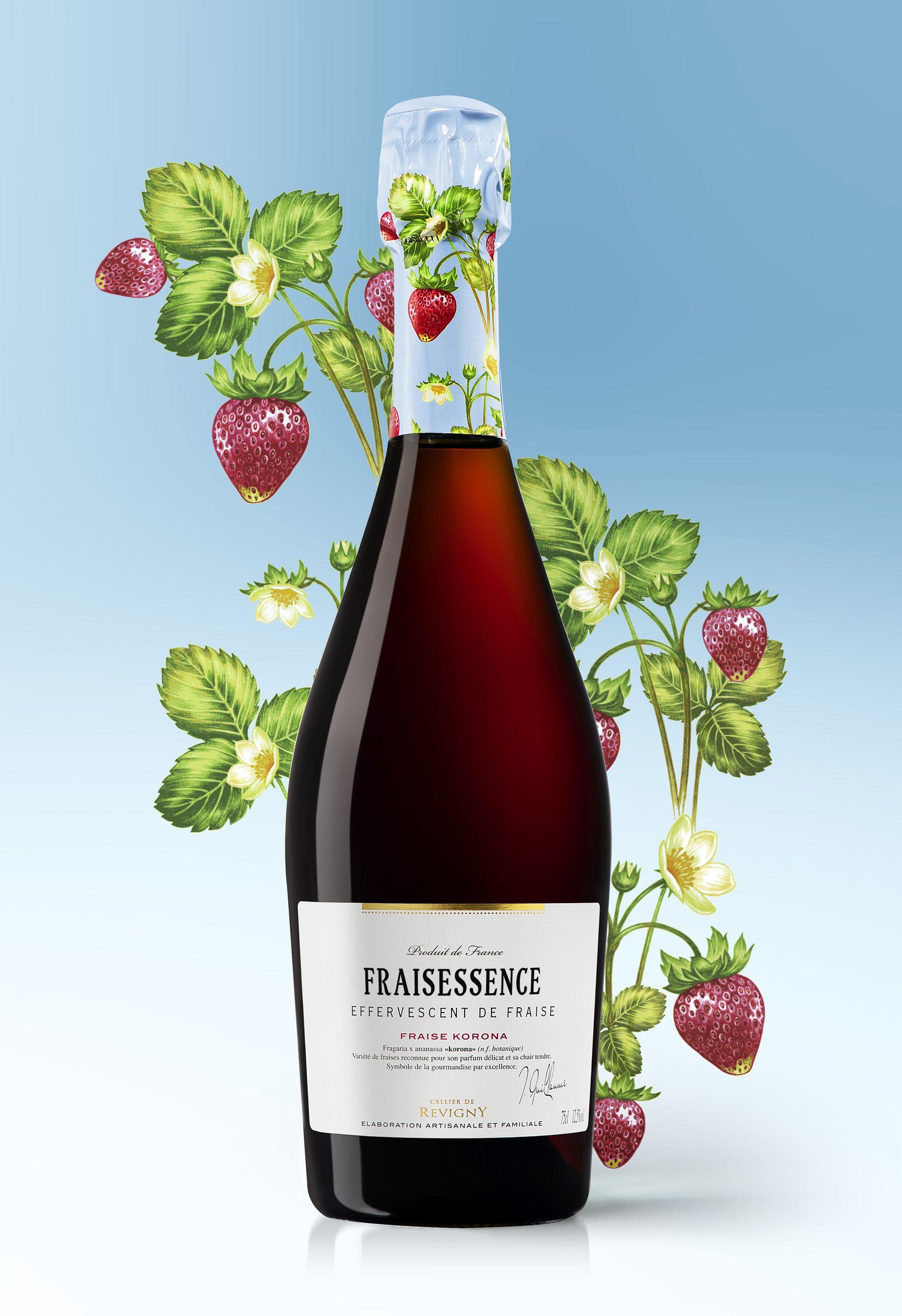 Vin pétillant effervescent de fraise fraise korona