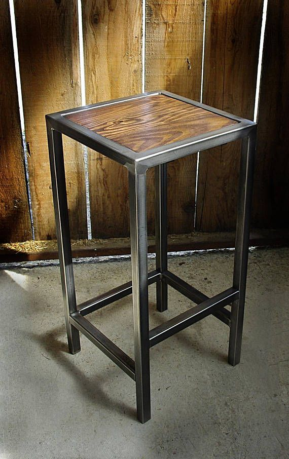 industrial stool /chaise bar iron wood industrial | apartamentos