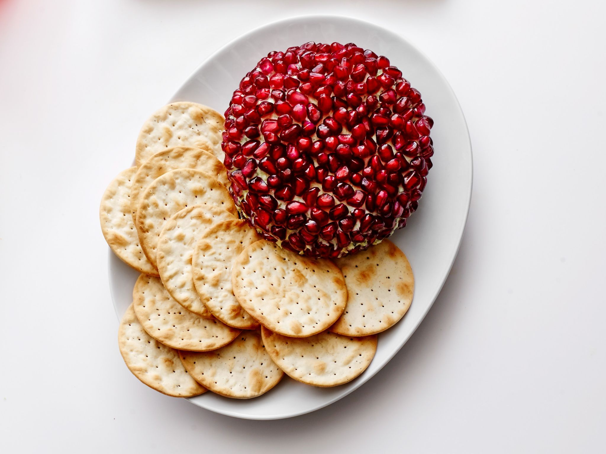 Pomegranate cheese ball recipe from food network kitchen via food get easy thanksgiving appetizer recipes from food network including deviled eggs butternut squash soup and stuffed mushrooms forumfinder Choice Image
