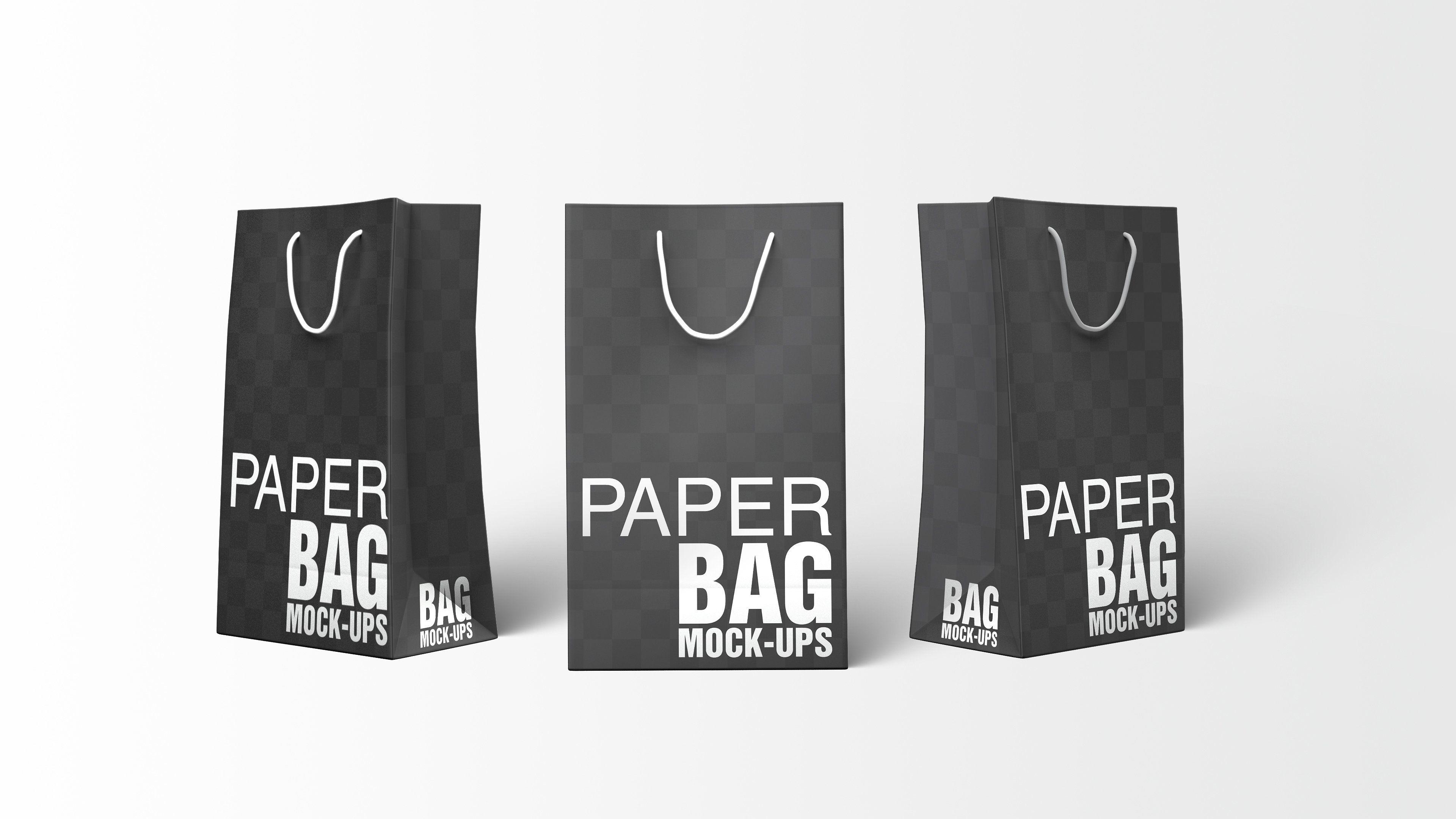 Download Paper Shopping Bag Mockups Bundle Bag Mockup My Other Bag Bags