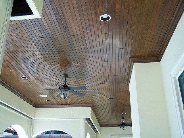 Tongue And Groove Ceiling With Crown Moulding Tongue And Groove Ceiling Home Ceiling Home Library Design