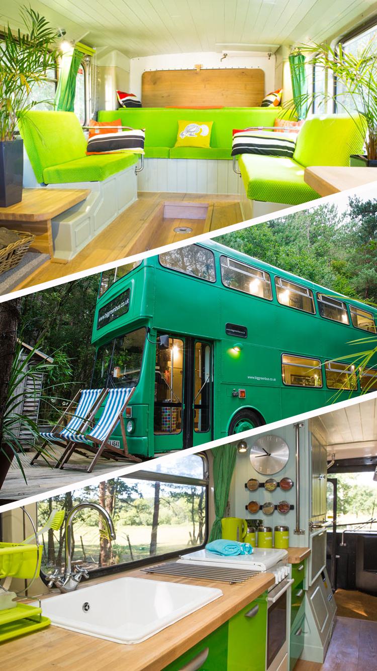 Restaurant Americain Plan De Campagne the big green bus propose de passer la nuit au milieu de la