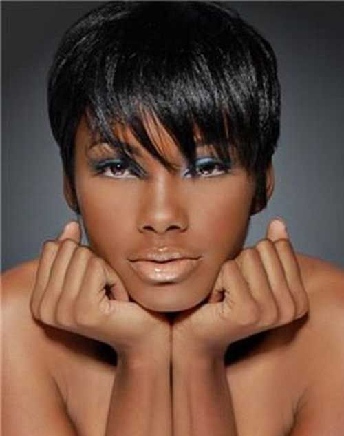 Short Haircut For Black Women Fryzury Short Hair Styles Hair