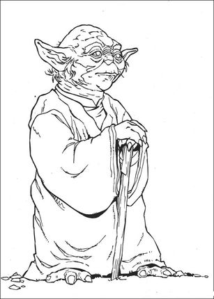 Click To See Printable Version Of Wise Yoda Coloring Page