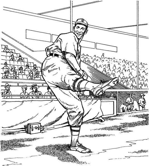 And The Wind Up Baseball Coloring Page Purple Kitty Baseball