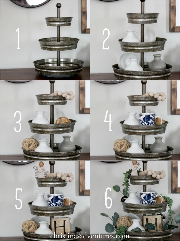 How To Style A Tiered Tray Christina Maria Blog Tray Decor Tiered Tray Decor Kitchen Decor