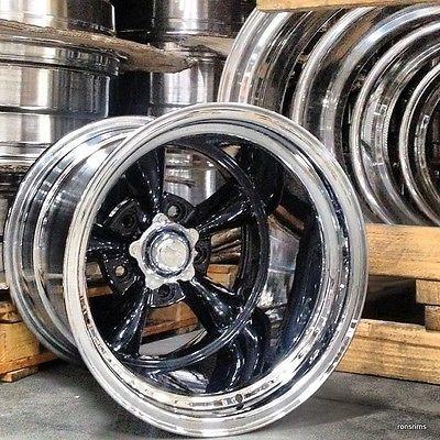 15x10 034 Torq Thrust D Black Custom Bild Chev Ford Mopar American Racing Custom American Racing American Racing Wheels Drag Racing Wheels