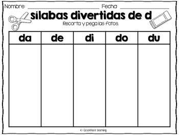 Silabas Divertidas Spanish Phonics Activities For Da De Di Do