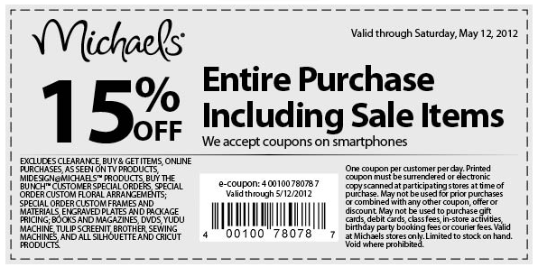 15 Off Everything At Michaels Crafts Printable Coupons Coupons E Coupons
