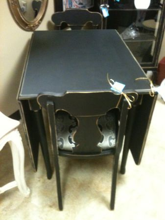 Vintage Painted Black Drop Leaf Table The Perfect Piece
